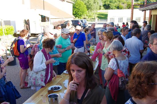 La buvette à la fête du livre de Roisey (Loire)