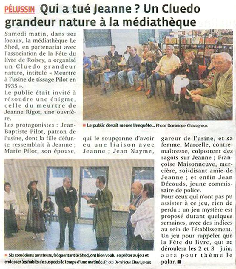 Article du Progrès du 15 mai 2012